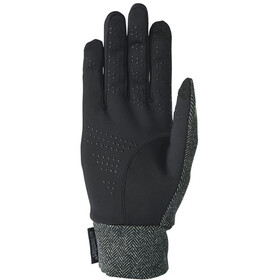 Extremities Herringbone Touch Liner Gloves Charcoal